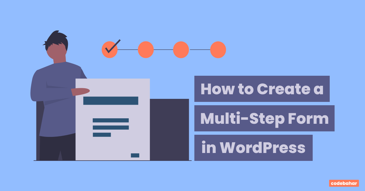 how to create multi-step form in wordpress