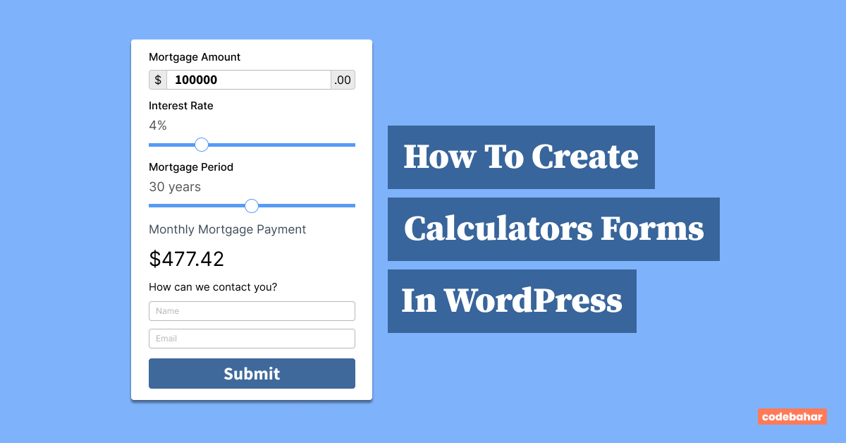 How To Create Calculators Forms In WordPress