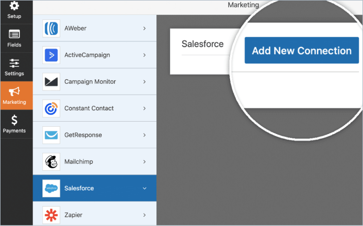 Add new Salesforce connection in WPForms