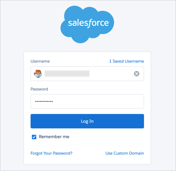 Signin page in Salesforce