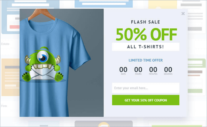 optinmonster countdown timer popup template