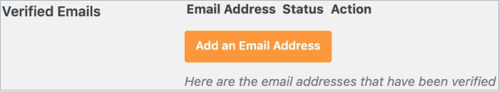 Add an Email Address to verify with Amazon SES in WP Mail SMTP