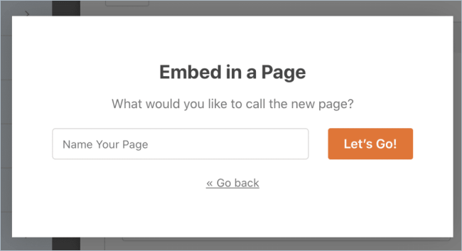 Create a new page to add WPForms