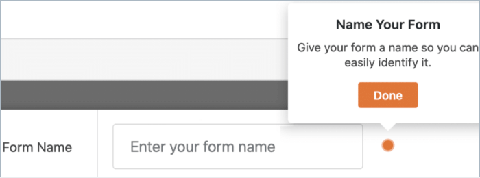 Enter the name of your form in WPForms