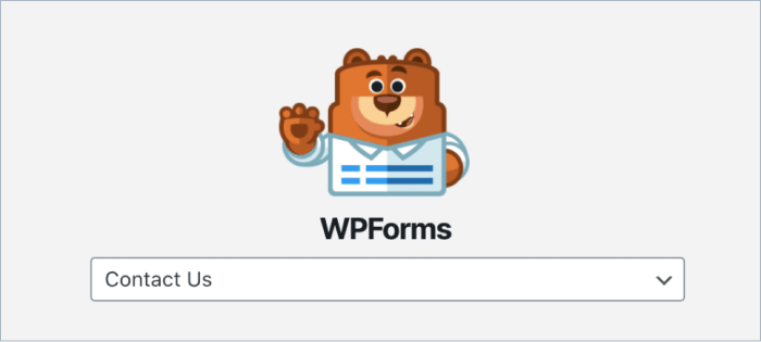 Select a Form to Embed in your page