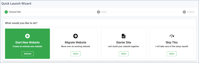 start a new site in greengeeks