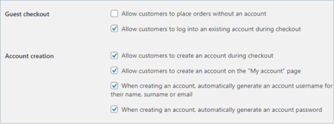 woocommerce no guest checkout